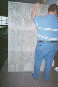 Moving Marble Memorial Tablet